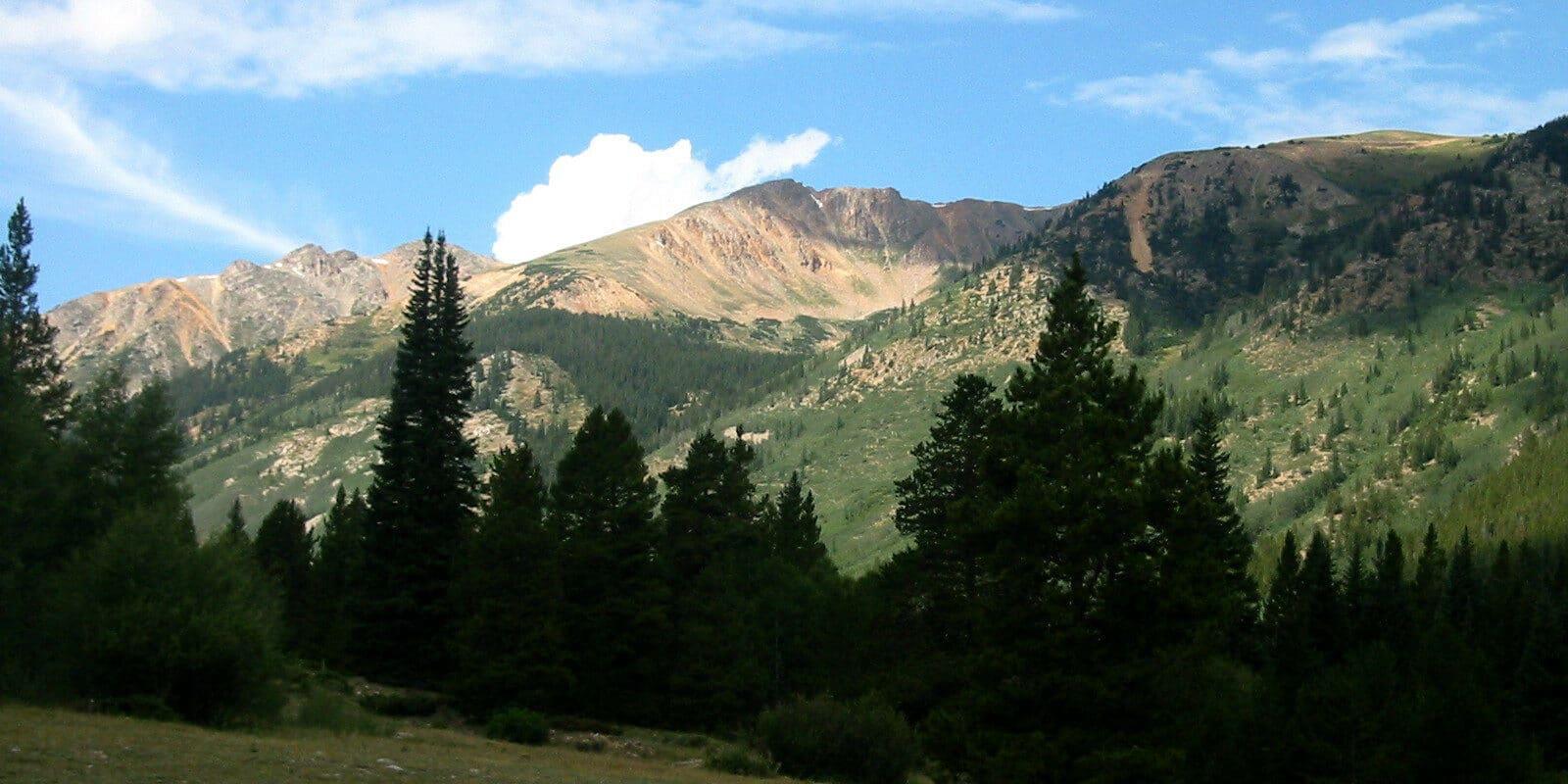 Image of La Plata Peak from Winfield, Colorado