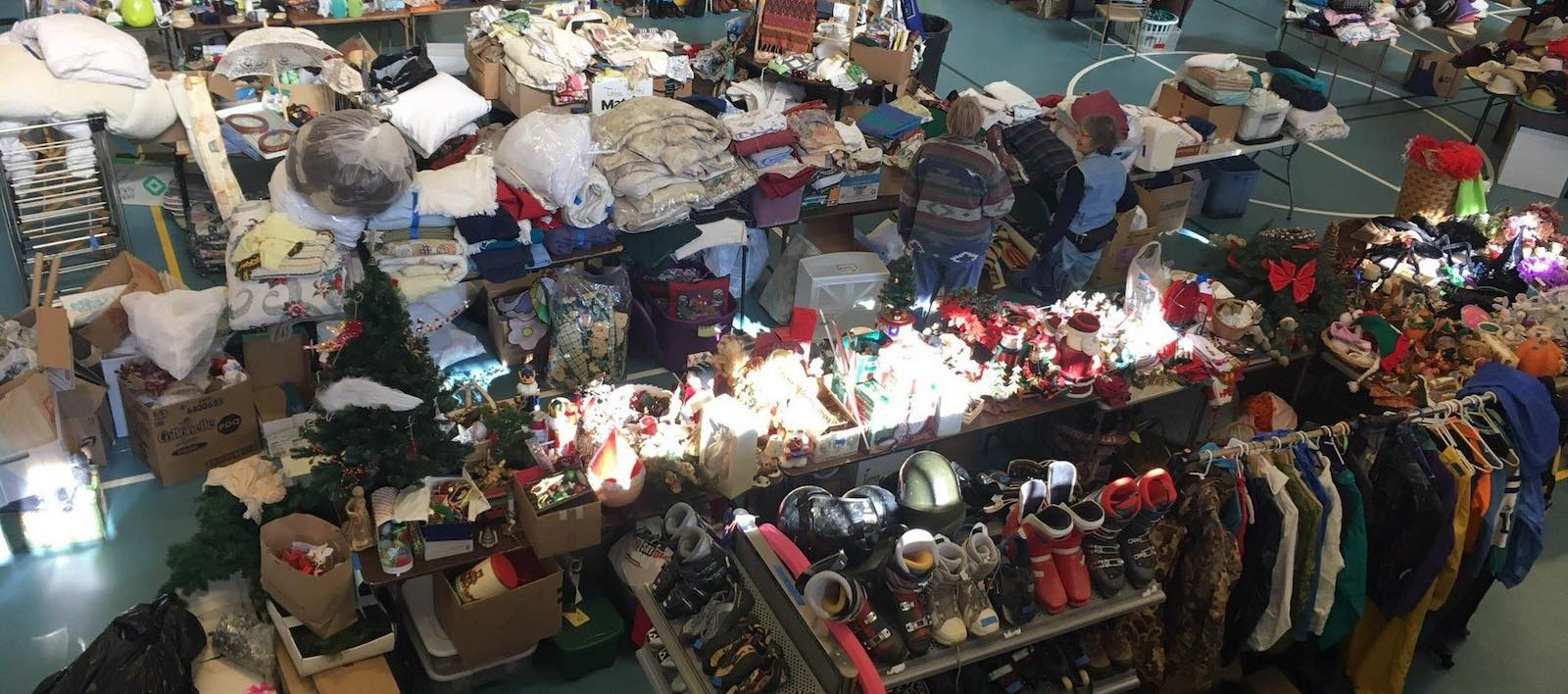 Image of the annual yard sale at the Mountain Forum for Peace in Nederland, Colorado