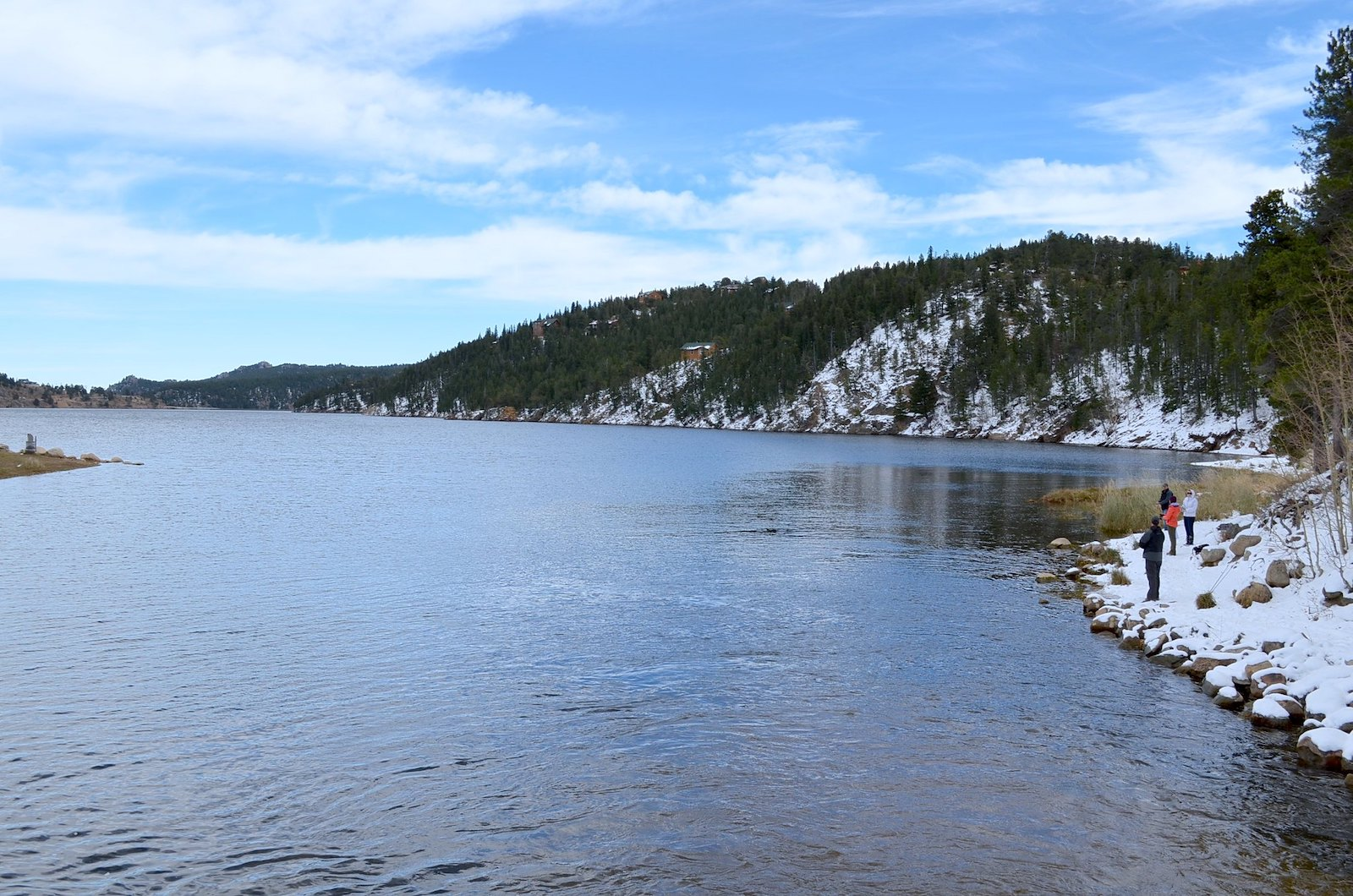 Image of a lake in winter in Nederland, Colorado