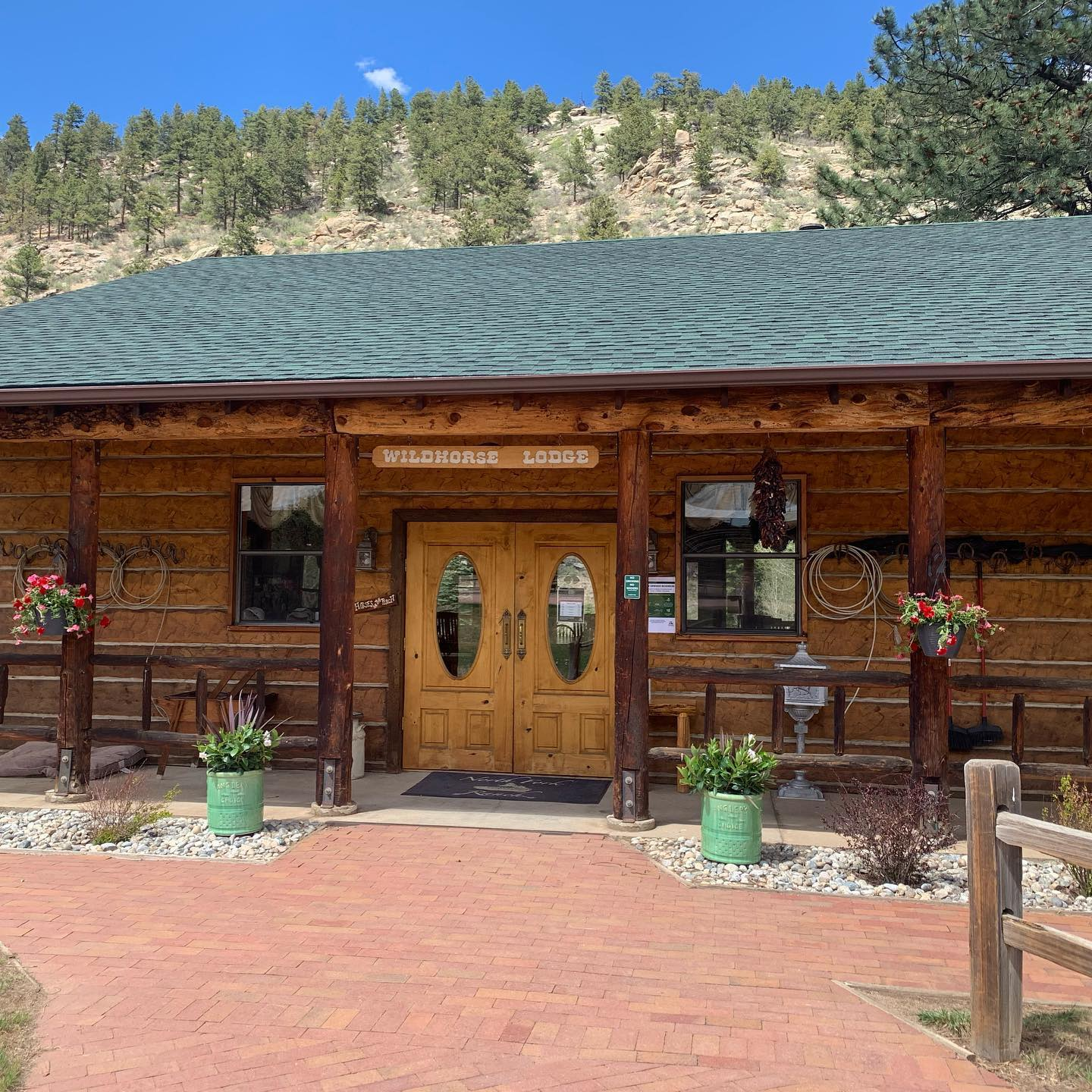 Image of the Wildhorse Lodge at North Fork Ranch in Shawnee, Colorado