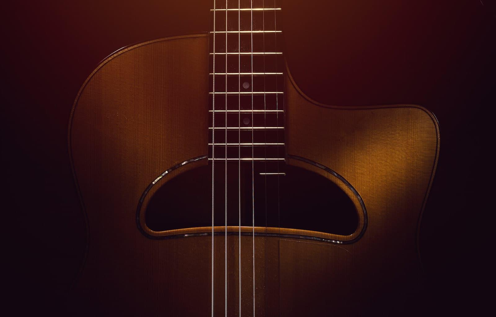 Gambar gitar akustik Gipsi