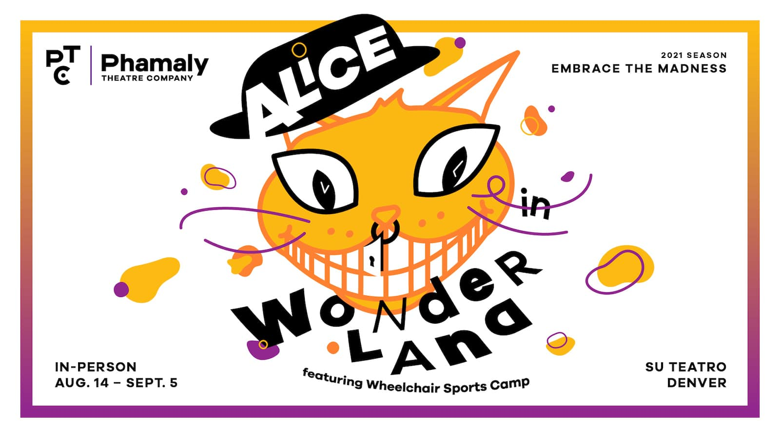 Image of the Phamaly Theatre Company Alice in Wonderland flyer