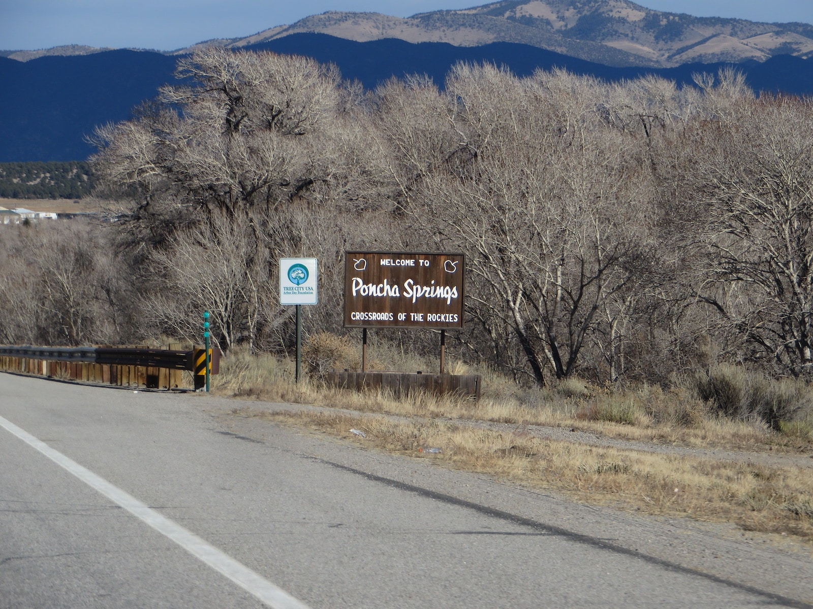 Poncha Springs CO Welcome Sign