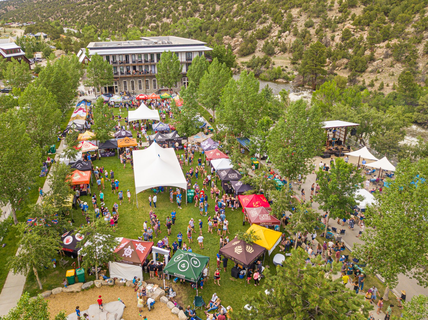 Image of the Rapids and Grass Beer Fest in Buena Vista, Colorado