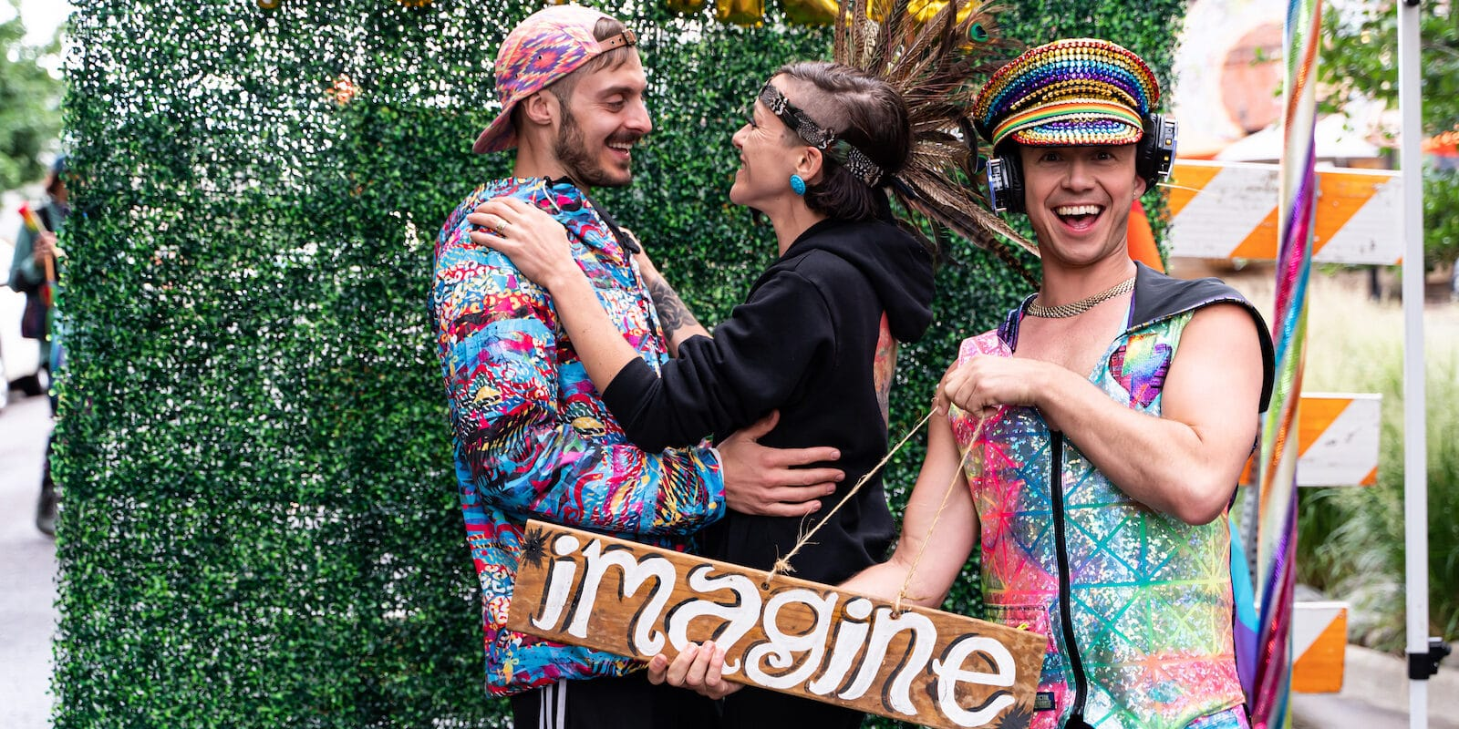 Image of three people at a previous Secret Dance Addition event in Colorado