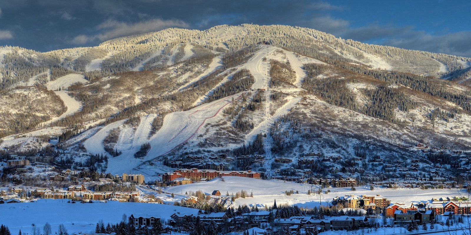 Image of ski trails at Steamboat Resort in Colorado