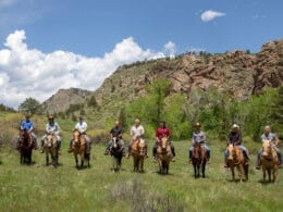 Image of people on horses at Sylvan Dale Guest Ranch in Loveland, CO