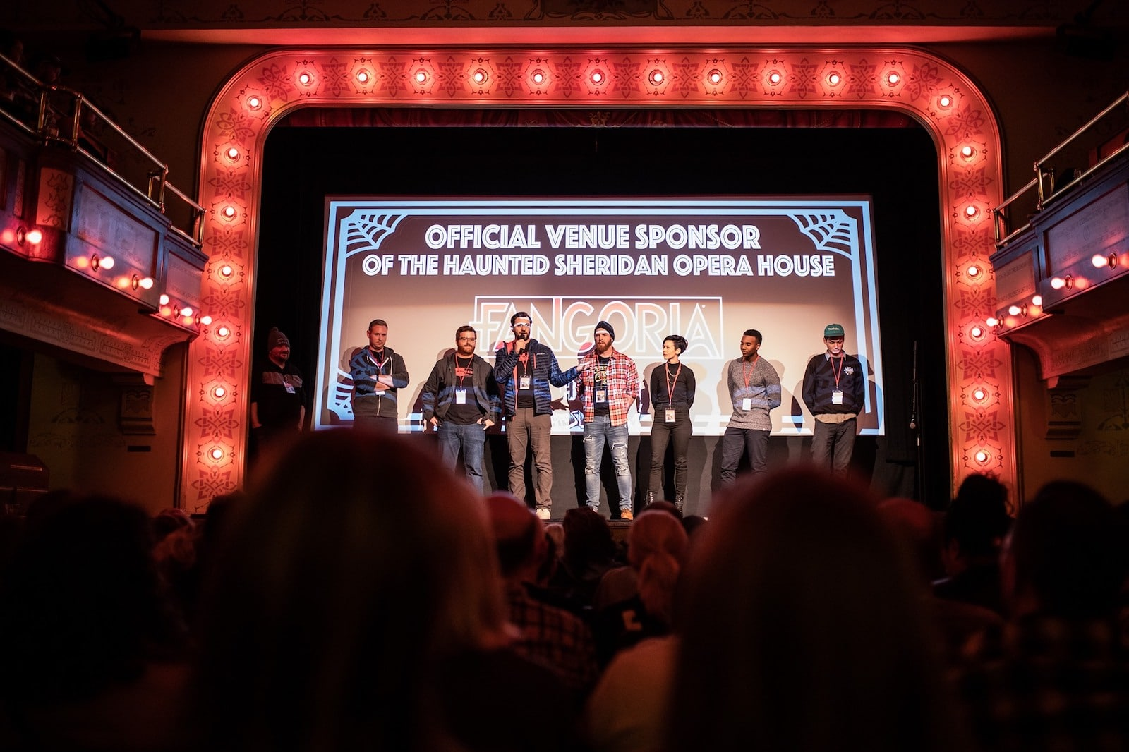 Image of the stage at the Telluride Horror Show in Colorado