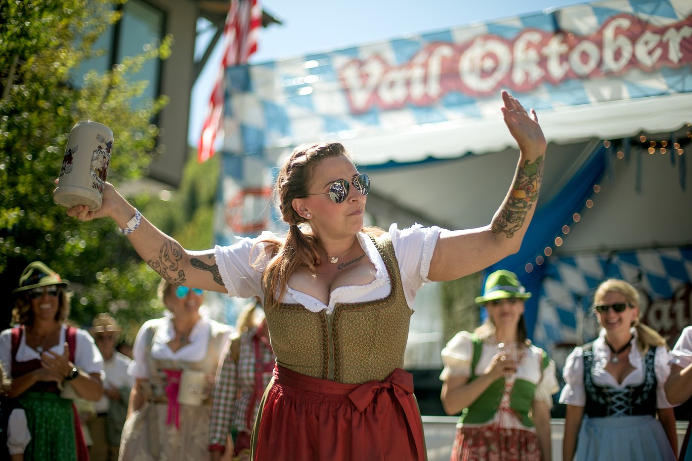 Image of a woman at Vail Oktoberfest in Vail, Colorado