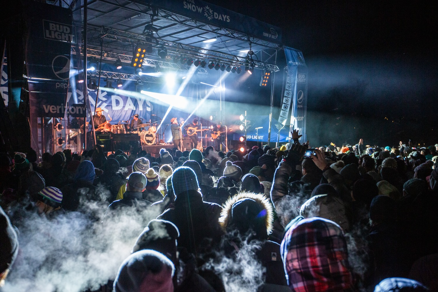 Image of people at the stage at Vail Snow Days in Colorado