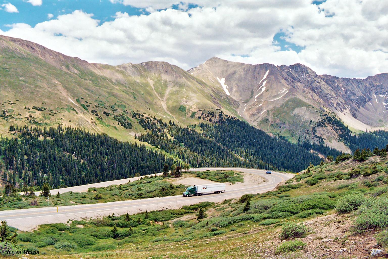 US 6 from below Loveland Pass, Colorado