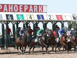 Image of the Arapahoe Park Race Track in Colorado