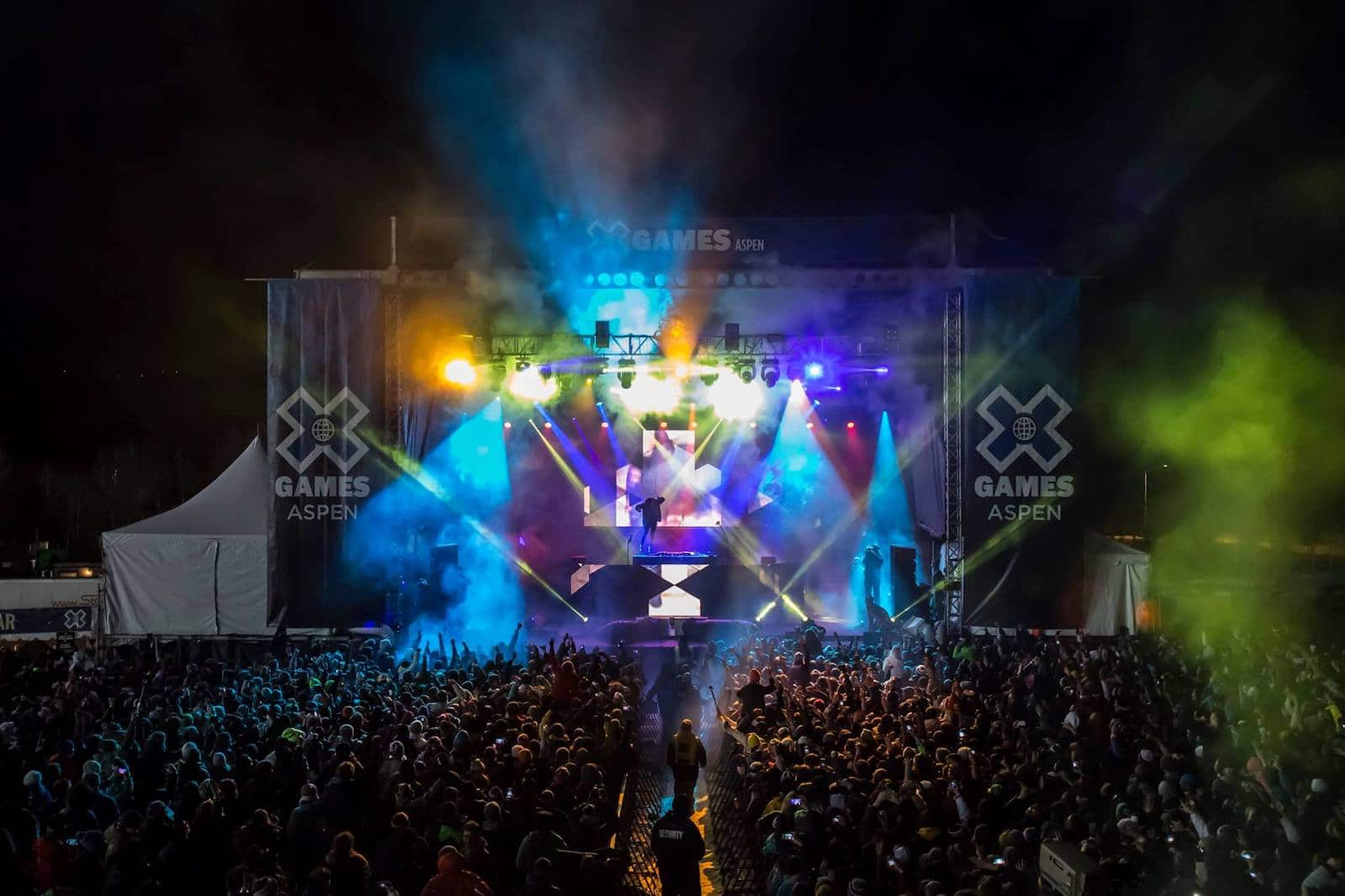 Gambar panggung Aspen X Games di Colorado