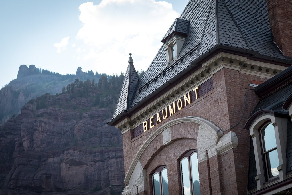 Image of the Beaumont Hotel & Spa in Ouray, CO