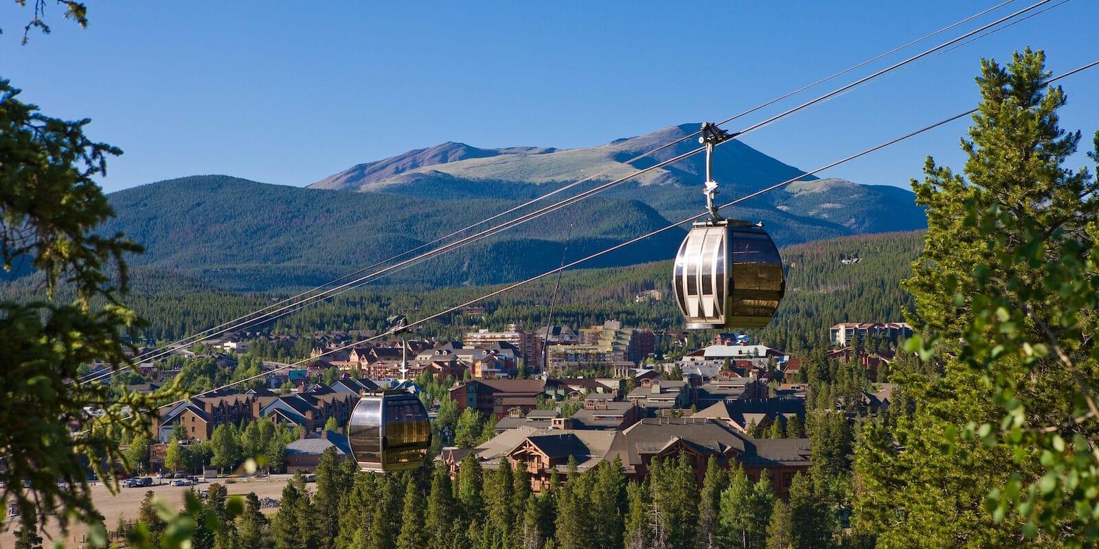 Image of the BreckConnect Gondola and Breckenridge, Colorado landscape