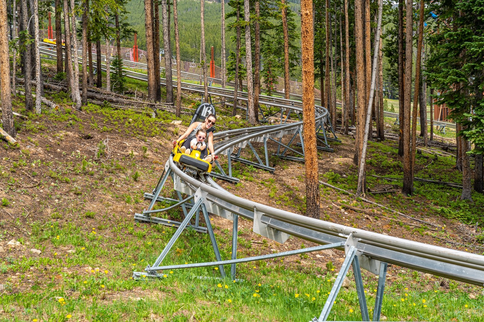 Image of the Epic Discovery alpine coaster in Breckenridge, Colorado