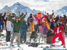 Image of people at Bud Light Spring Jam in Aspen, Colorado