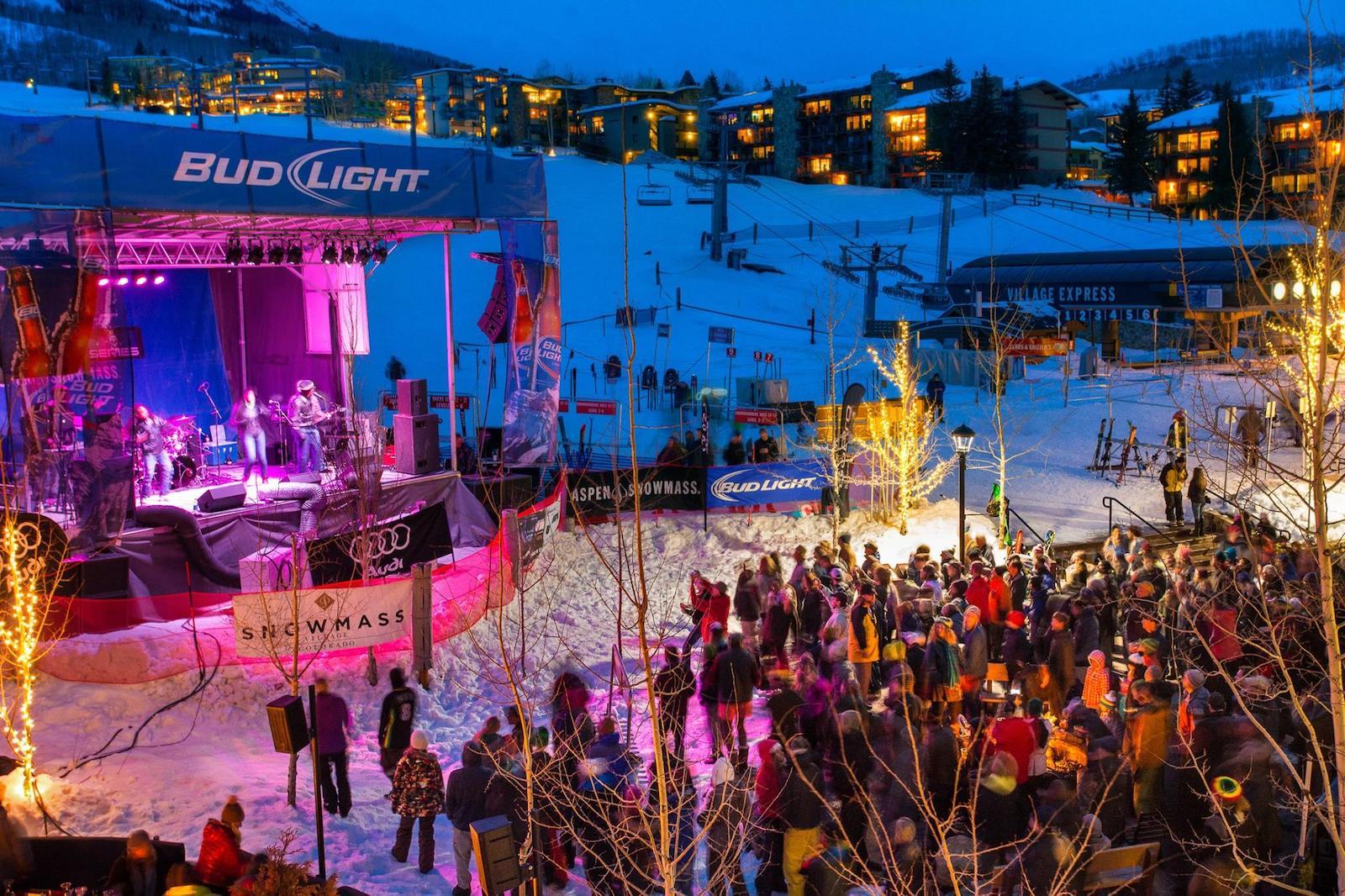 Gambar panggung di Bud Light Spring Jam di Aspen, Colorado