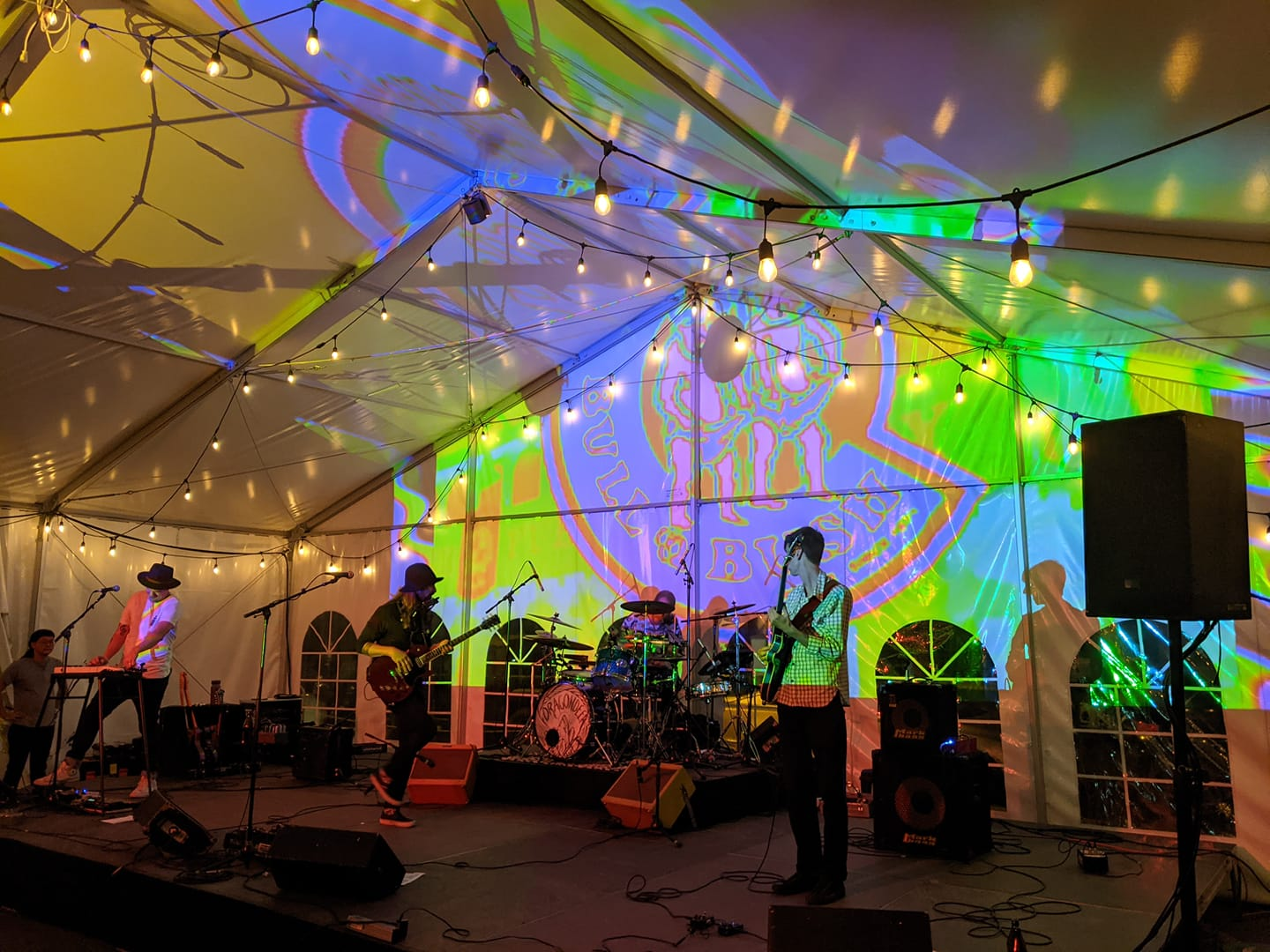 Image of the 50 year anniversary concert at Bull & Bush Brewery in Denver, Colorado