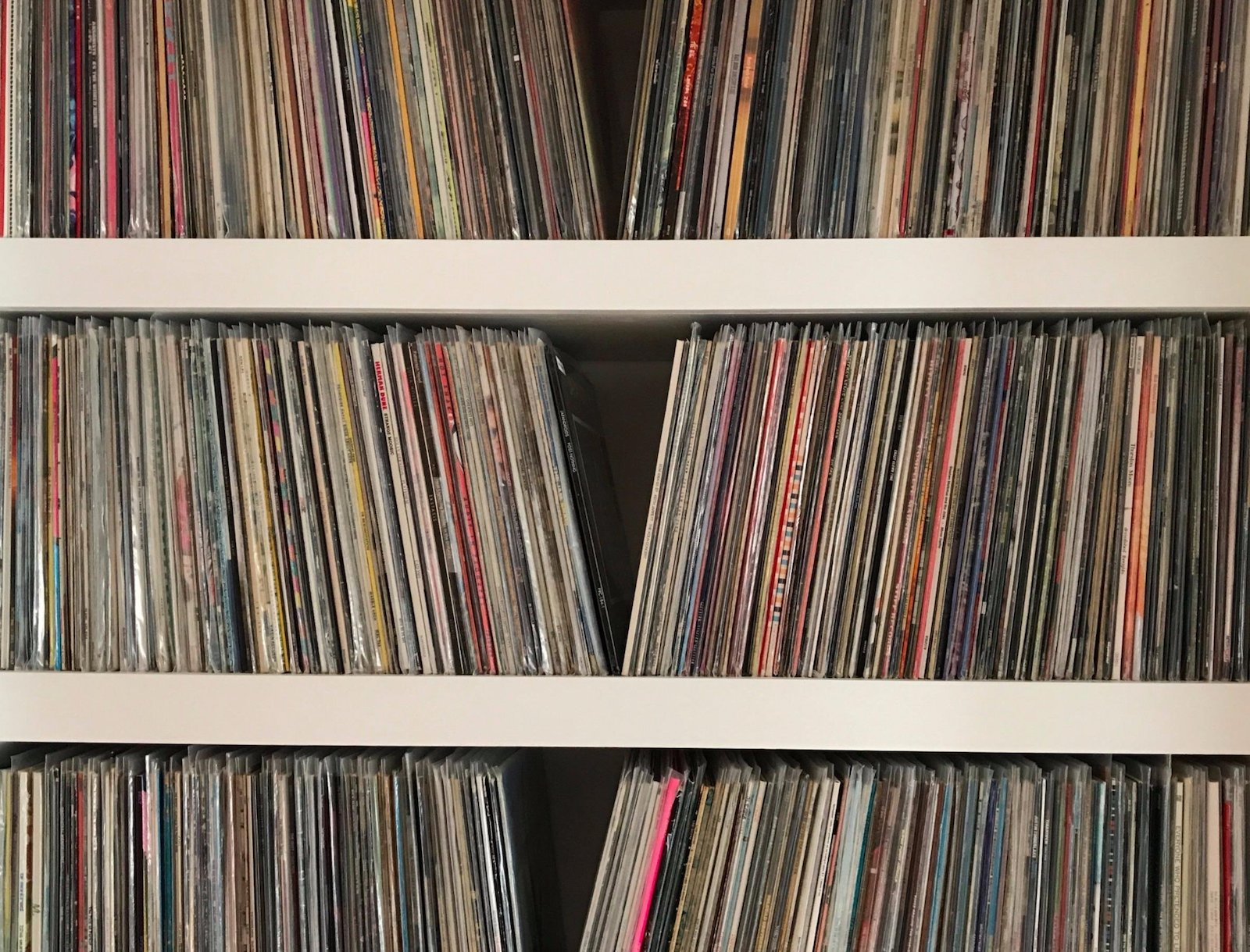 Image of records in a shelf