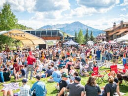 Image of people at the Crested Butte Chili & Beer Festival in Colorado