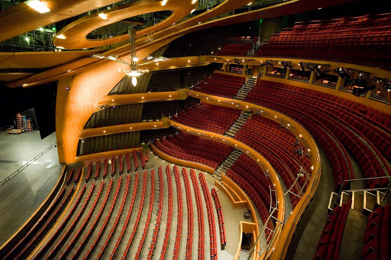 Image of the seating in the Denver Performing Arts Complex in Colorado