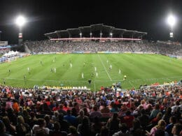 Image of the crowd at Dick's Sporting Goods Park in Colorado