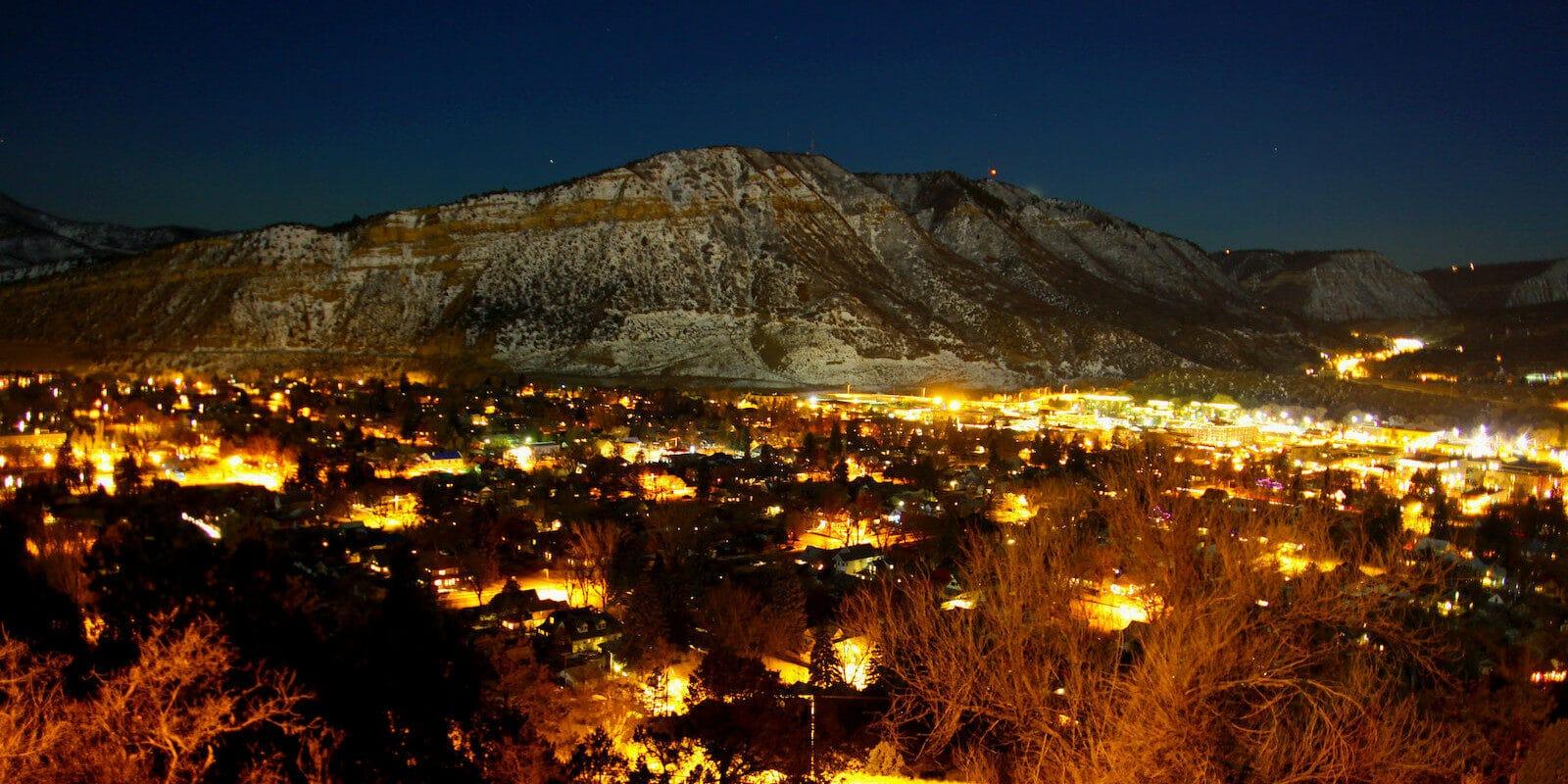 Image of Durango, Colorado at night
