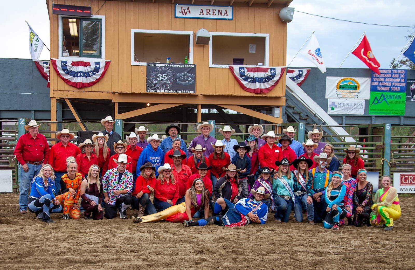 Image of the staff from the High Country Stampede Rodeo in Colorado