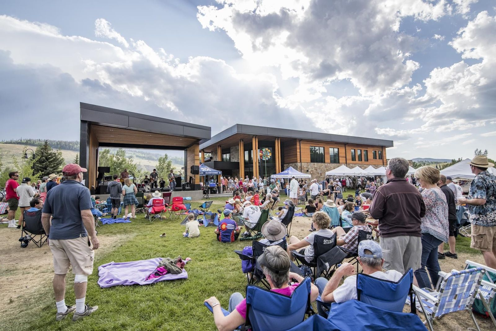 Image of the outdoor area at Lake Dillon Theatre Company in Silverthorne, Colorado