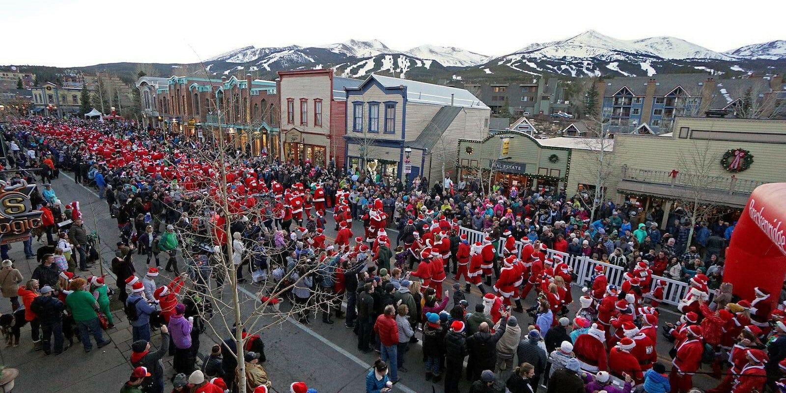 Image of the Santa Race in Breckenridge, Colorado