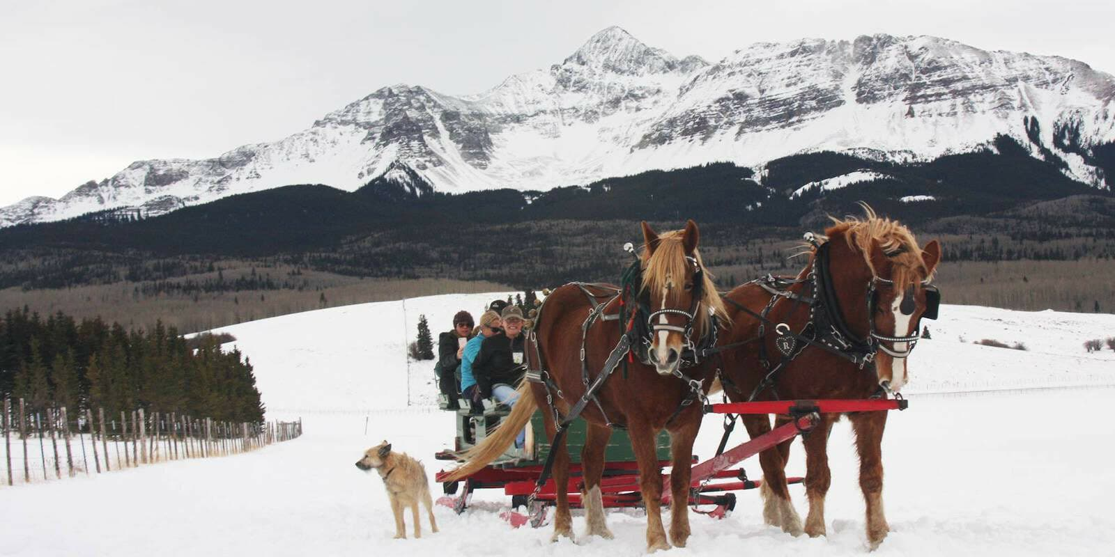 Image of a Sleigh at the Old Fashioned Christmas in Telluride, Colorado