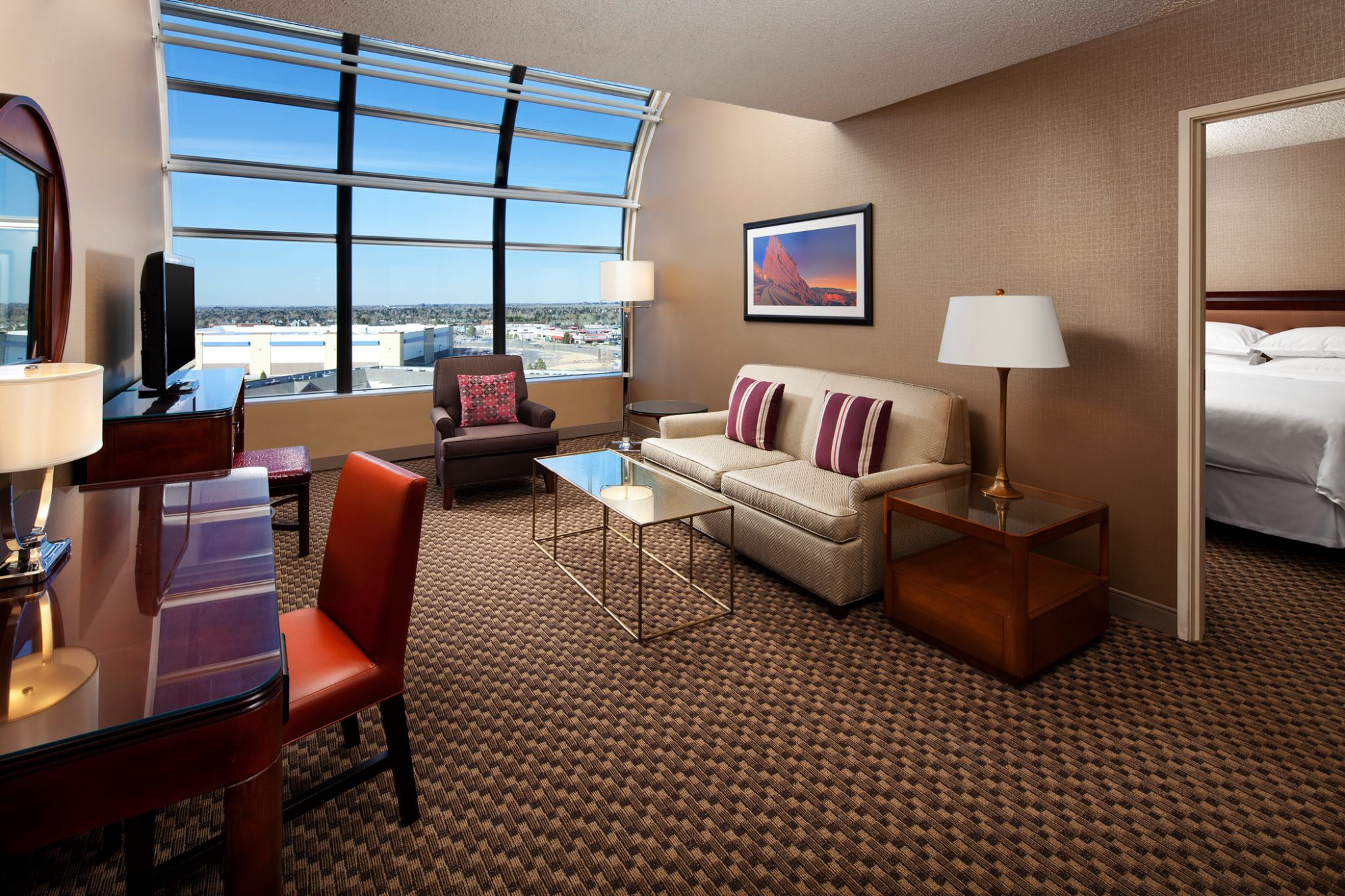 one-bedroom suite at sheraton hotel greenwood village