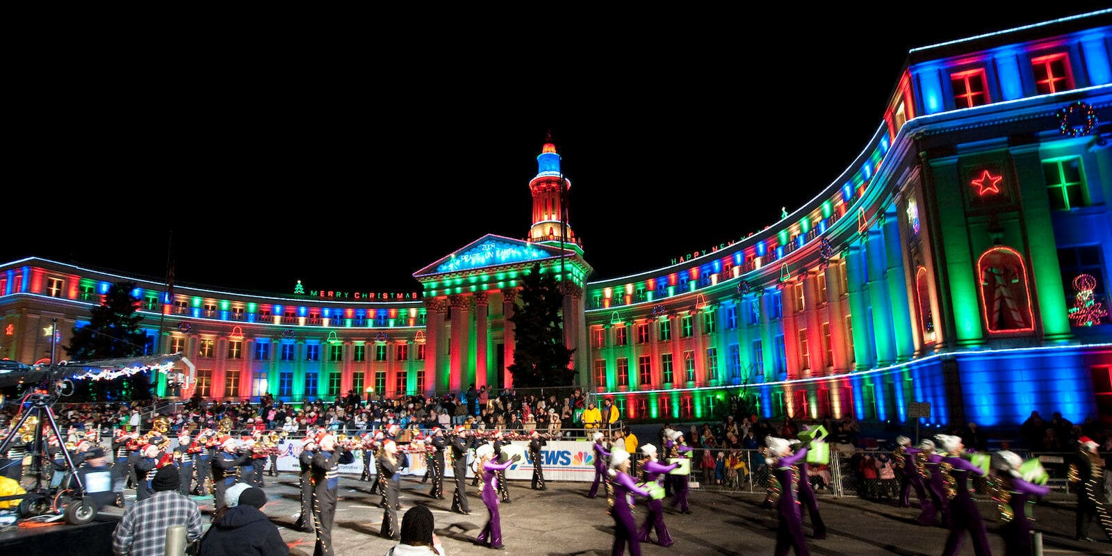 Image from the Parade of Lights in Denver, Colorado