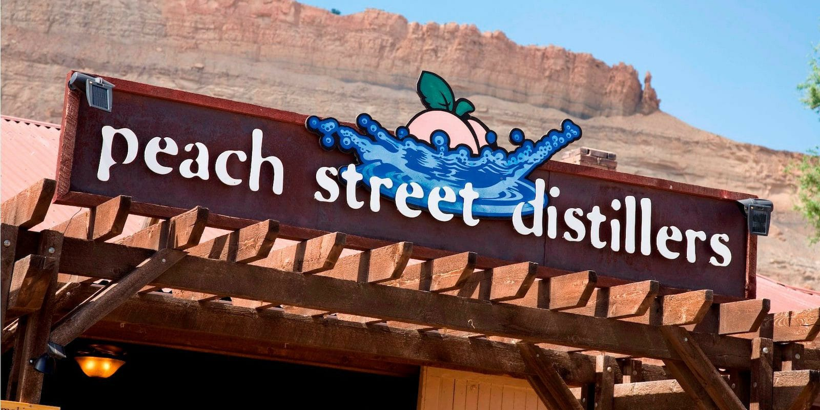 Image of the Peach Street Distillers sign