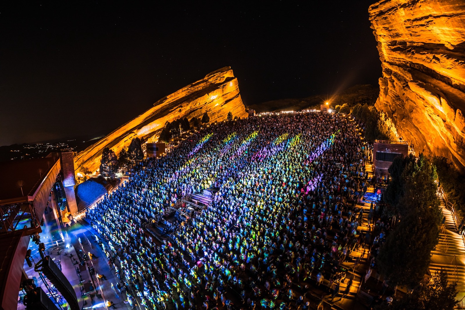 Image of the Red Rocks Amphitheater in Morrison, Colorado