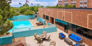 pool area at the sheraton hotel in greenwood village