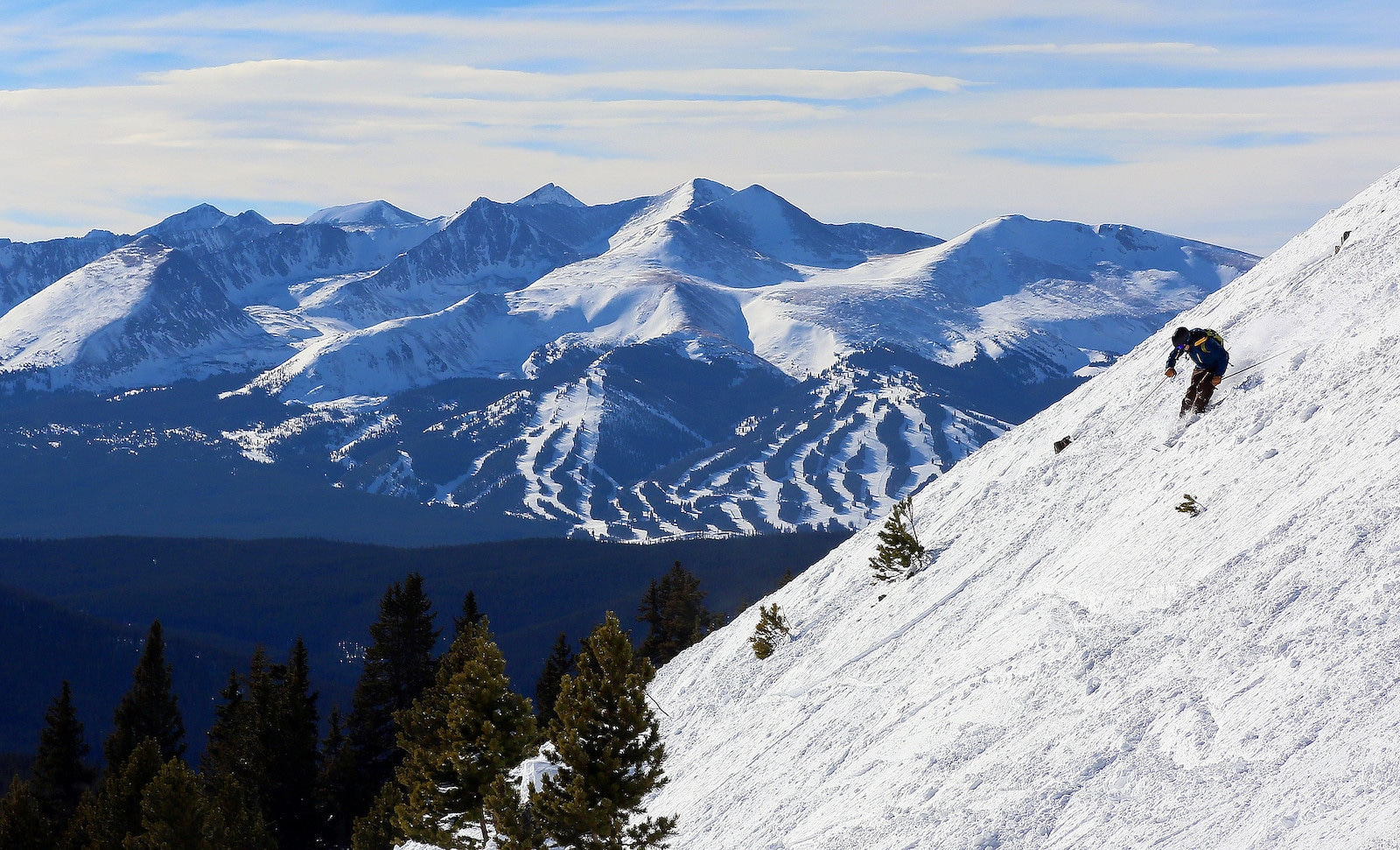 Image of a skier in Keystone, Colorado