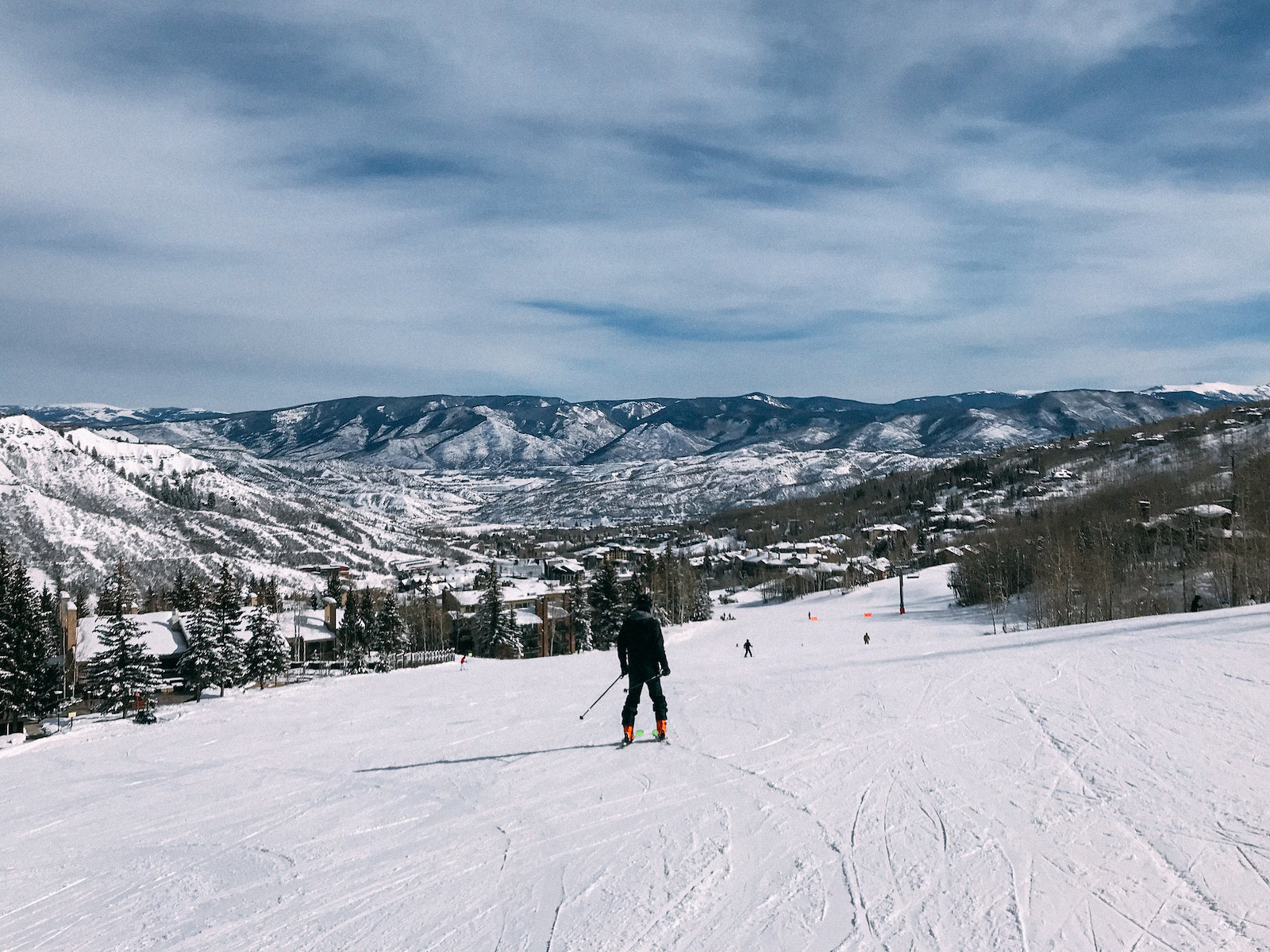 Image of a person skiing at Snowmass in Aspen, Colorado