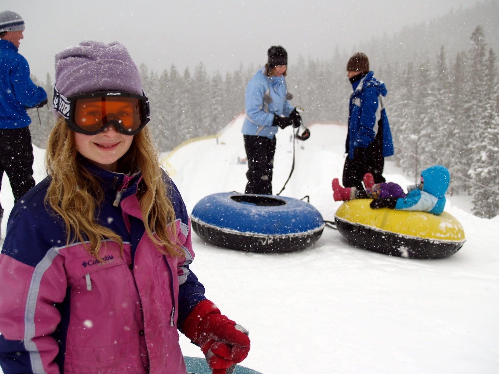 Image of people snow tubing in Keystone
