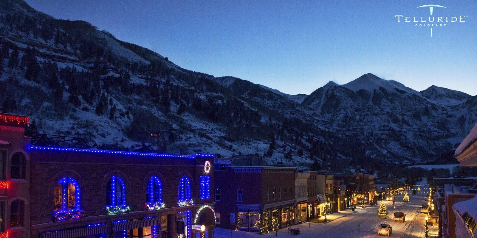 Image of lights in Telluride, Colorado