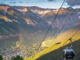 Image of Telluride's free gondola in Colorado