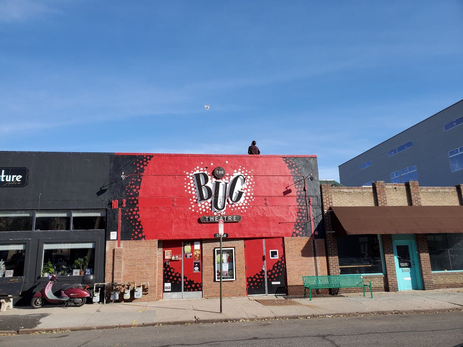 Image of the outside of The Bug Theatre in Denver, Colorado