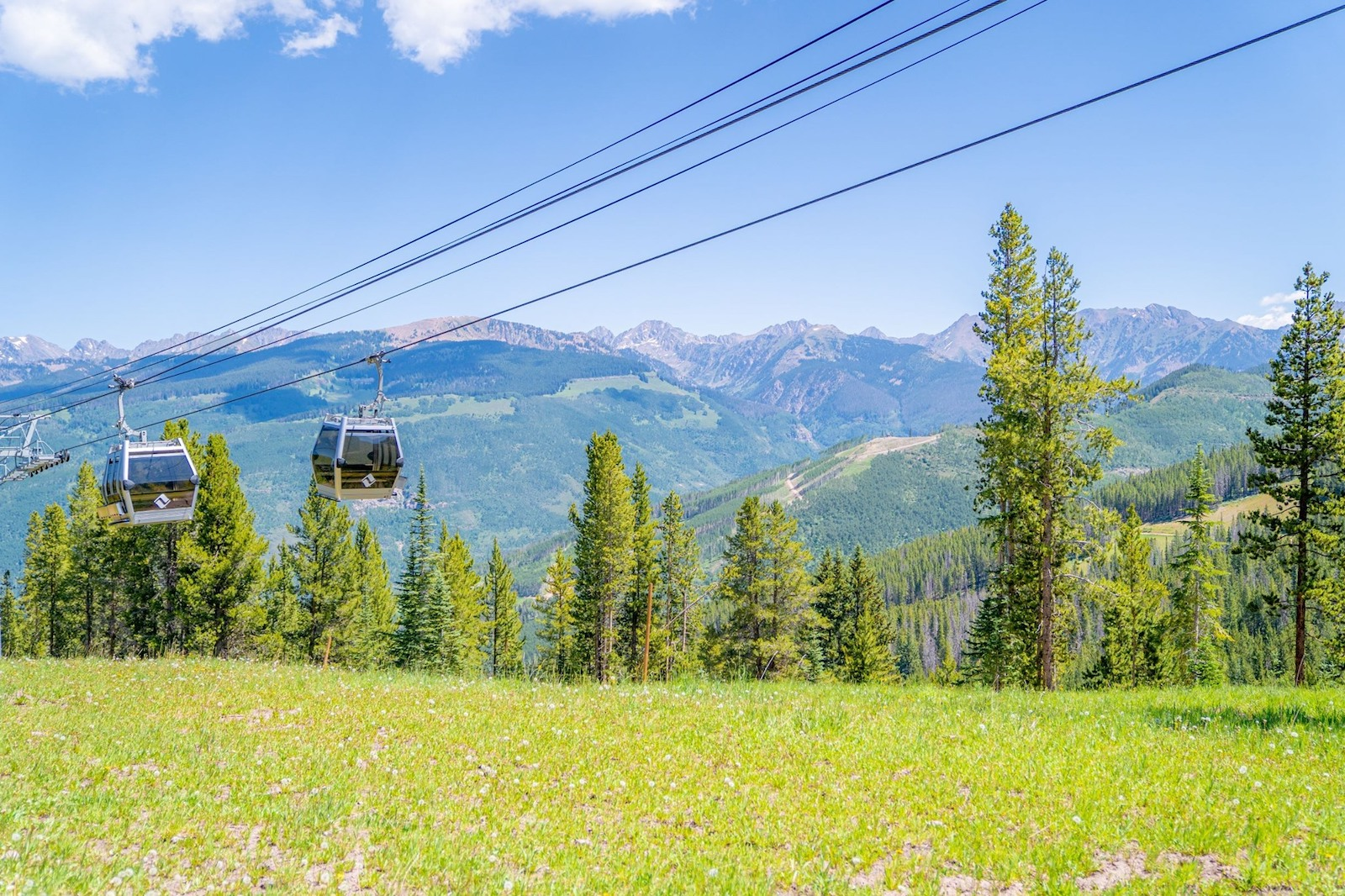 Image of the One Gondola during summer in Vail Resort, Colorado