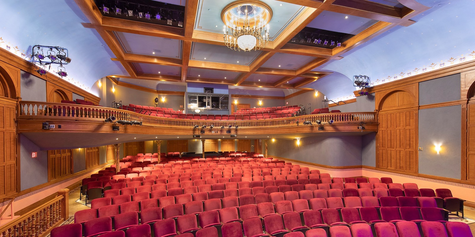 Image of the Wheeler Opera House seating in Colorado
