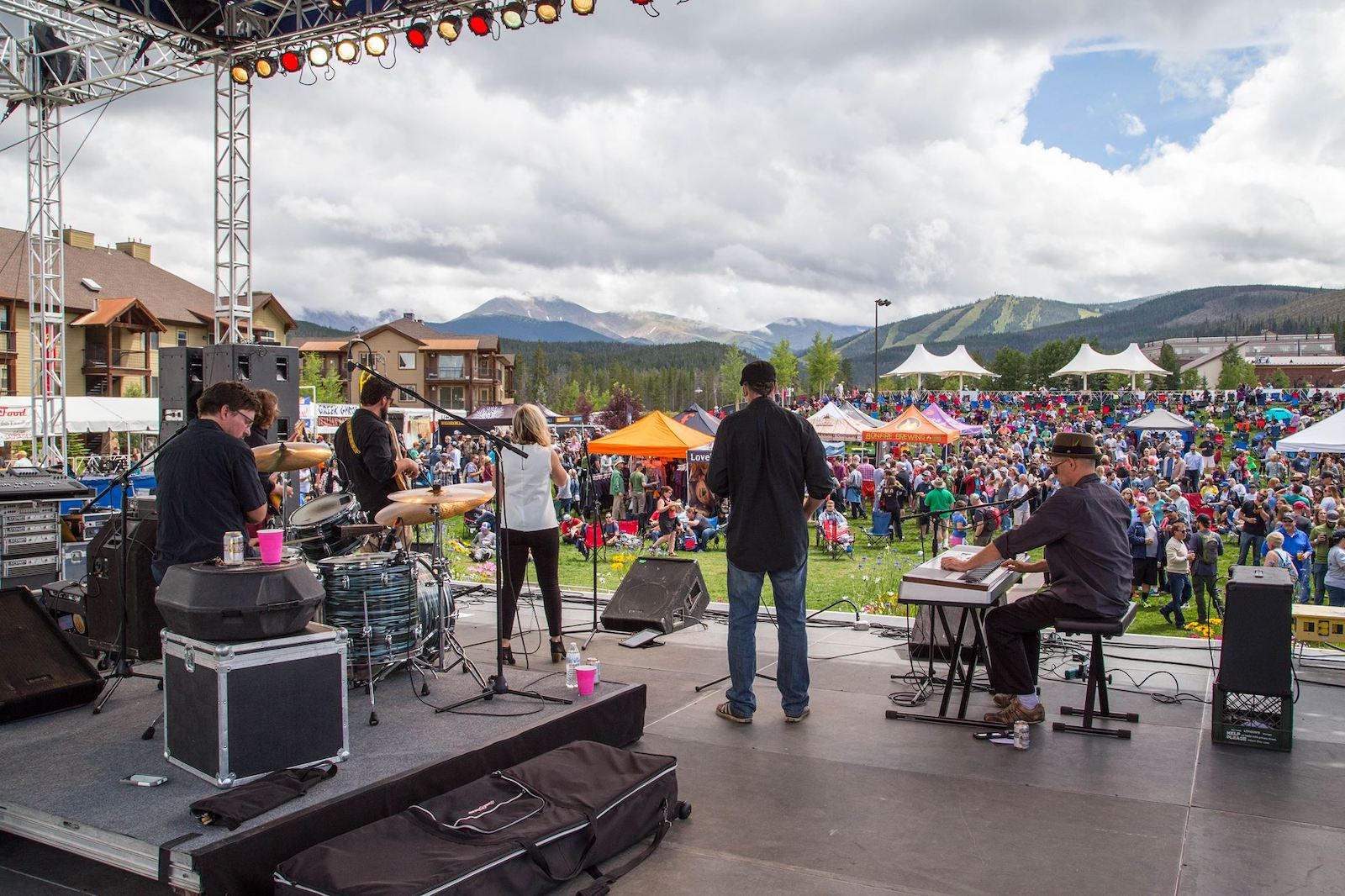 Image of the Winter Park Beer Festival Stage in Colorado