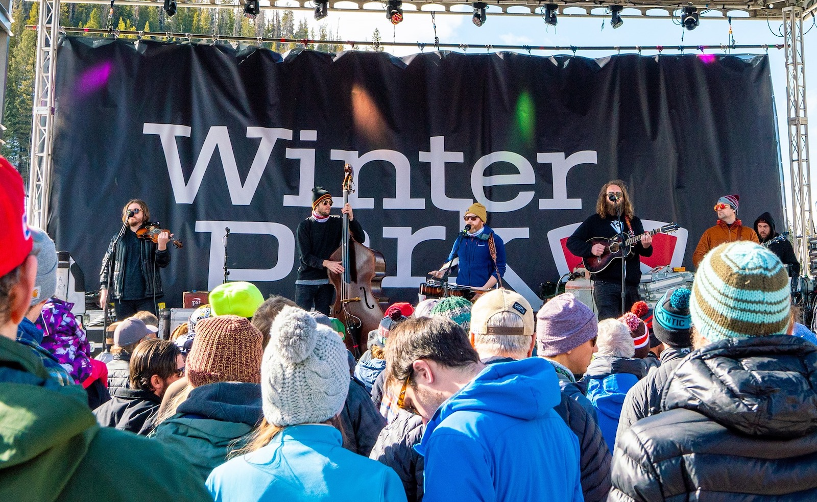 Image of a band playing in Winter Park, Colorado