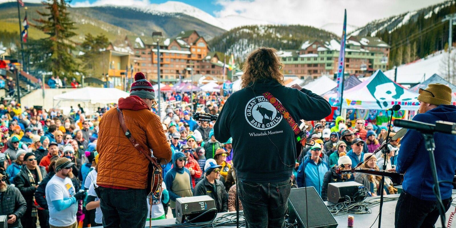 Image of a band performing at Winter Park Resort in Colorado