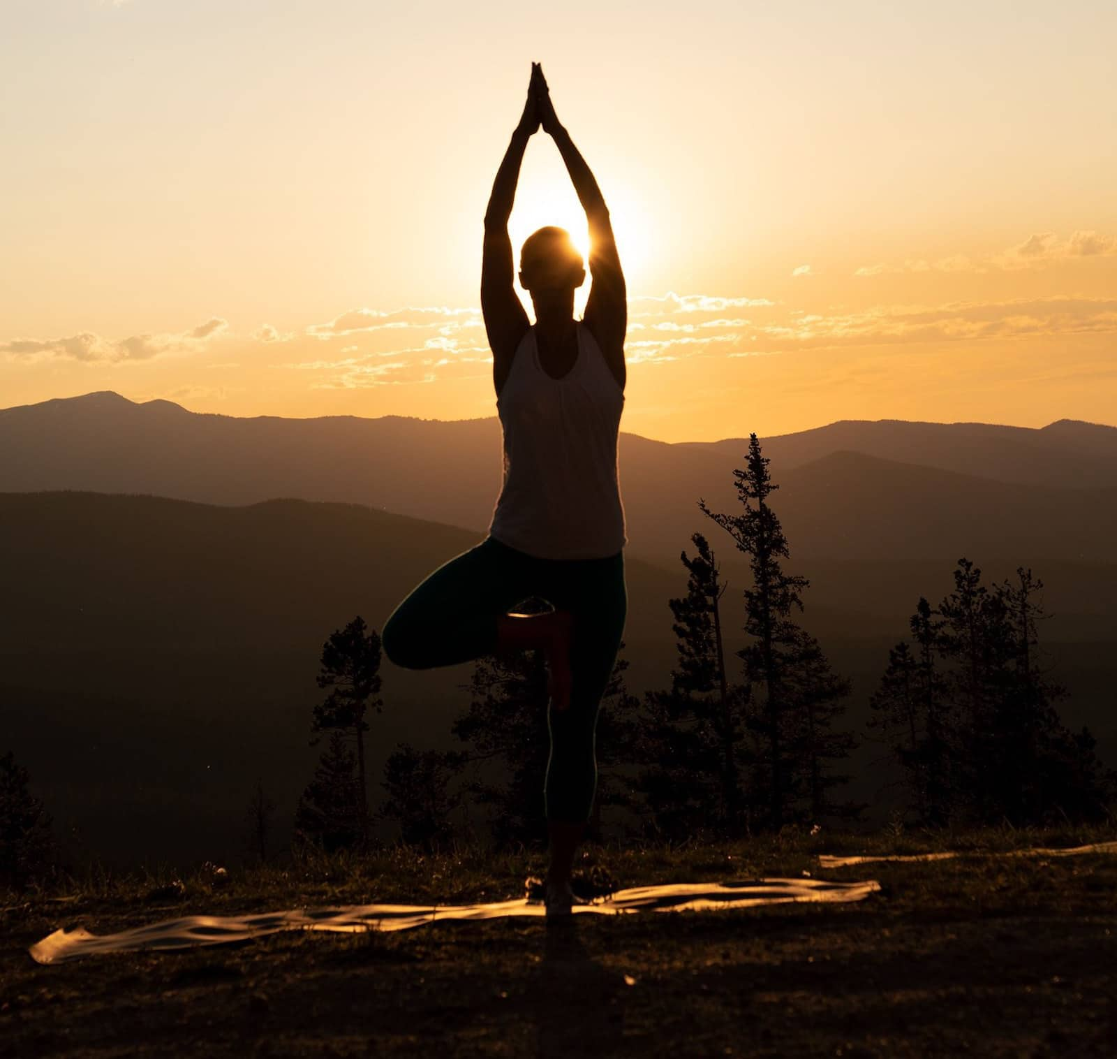 Image of a person doing yoga in Winter Park, Colorado