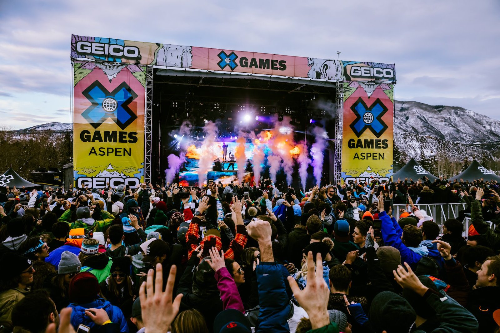 Image of a stage at the Winter X Games in Aspen, Colorado